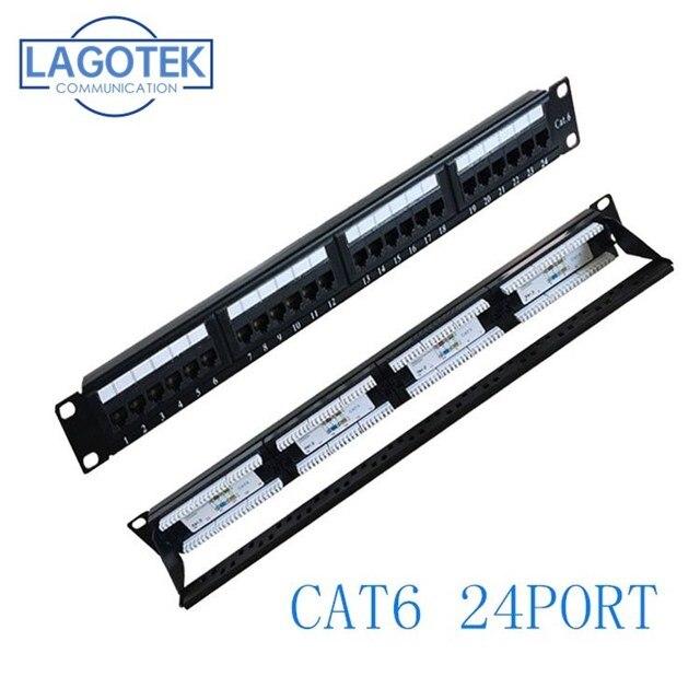 24 منافذ CAT6 UTP كيستون لوحة التوصيلات 19 بوصة 1U cat6 كابل إطار غطاء rj45 لوحة التوصيلات 24 ميناء