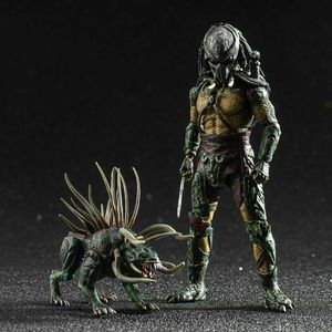 In Stock Hiya Toys 1/18 Tracker Predators 4'' Figure Predators LP0053 Collectible Model For Collection