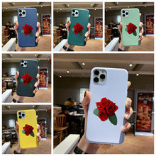 цена на Case For iPhone 6 6s 7 8 Plus x xs xr max 11pro max se2 Silicone Soft TPU Multicolor bottom shell rose series Covers c8