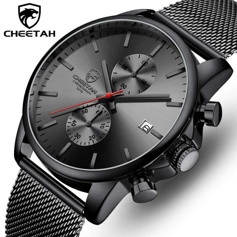 Гепард Мужские часы Модные Спортивные кварцевые наручные часы водонепроницаемые часы с хронографом мужские часы из нержавеющей стали Reloj Hombre
