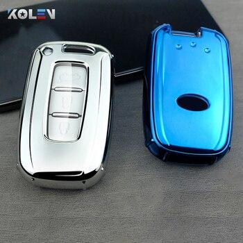 New Soft TPU Car Remote Key Cover Case For Hyundai Solaris HB20 Veloster SR IX35 Accent Elantra i30 For KIA K2 K3 RIO Sportage car key cover tpu remote protection key chain covers for kia k2 k5 sportage l811 sorento for hyundai i30 ix35 accent i20 sonata