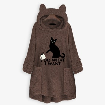 OVERSIZE HOODIE WITH CAT EARS 1