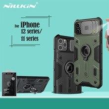 Cho iPhone 12 Mini Pro Max Hiệu NILLKIN CamShield Armor Trượt Camera Vòng Chân Đế Trong Cho iPhone 11 pro 11 Pro Max