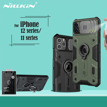 IPhone 12 mini Pro Max durumda NILLKIN CamShield zırh vaka slayt kamera halka kickstand arka kapak iPhone 11 pro 11 Pro Max