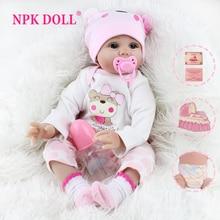 Кукла реборн NPK, кукла-младенец, игрушки для девочек, Реалистичная мягкая детская одежда, наборы ручной работы для малышей на день рождения, ...