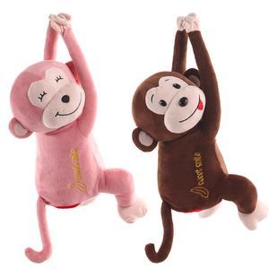 Инновационная подвесная коробка из ткани для автомобиля, милый чехол для игрушек с обезьяной, хлопковый держатель, коробка для хранения сал...