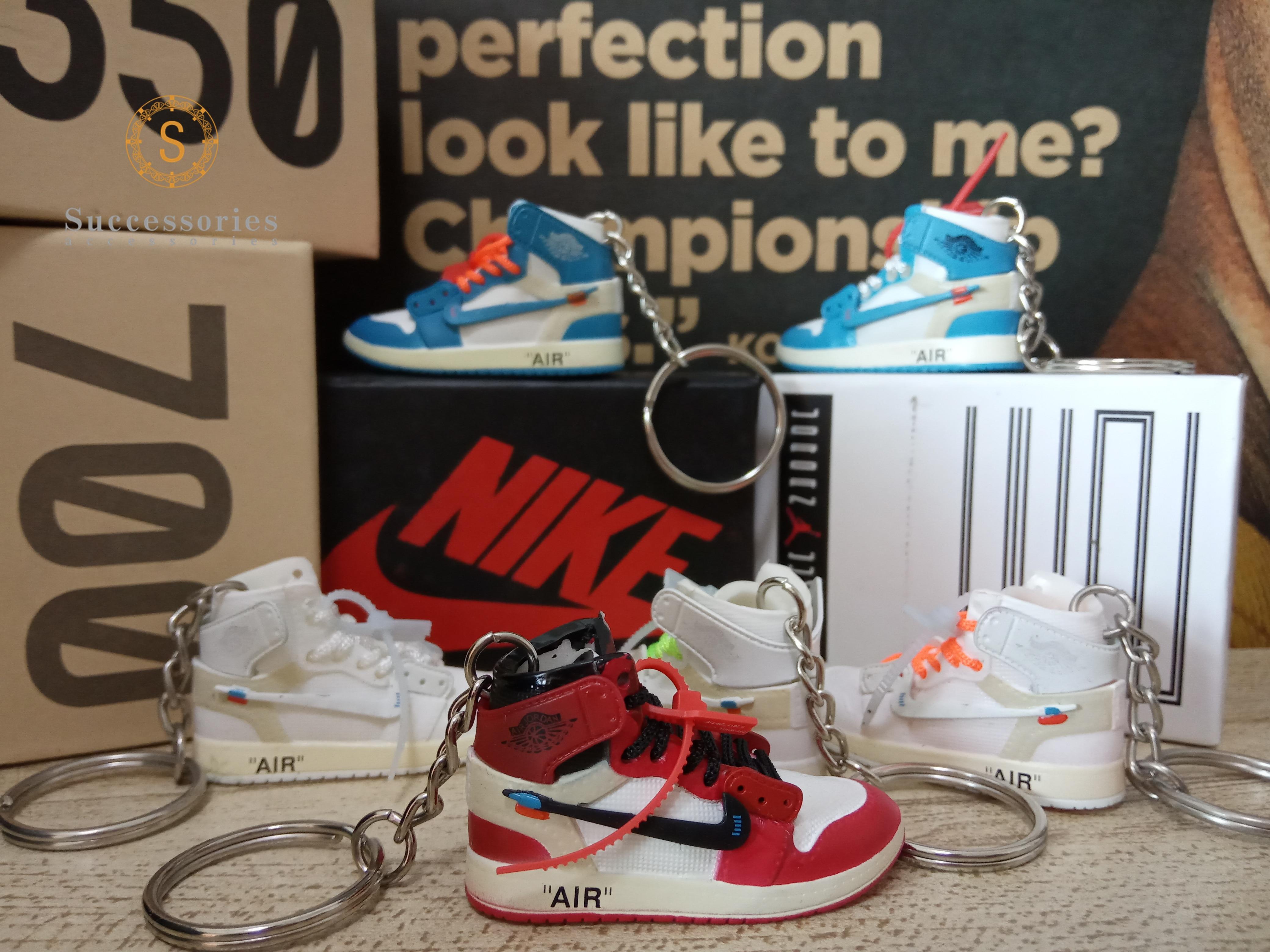 Dropshipping offwhite Chicago sneaker keychain Air Jordan 1