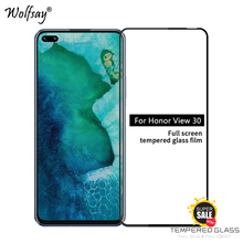 Wolfsay 2PCS Full Glue Cover Glass For Honor View 30 Screen Protector Tempered Glass For Honor View 30 Film For Honor View 30 glass for huawei honor view 30 pro tempered glass full cover glue screen protector for huawei honor view 30 for honor v30 glass
