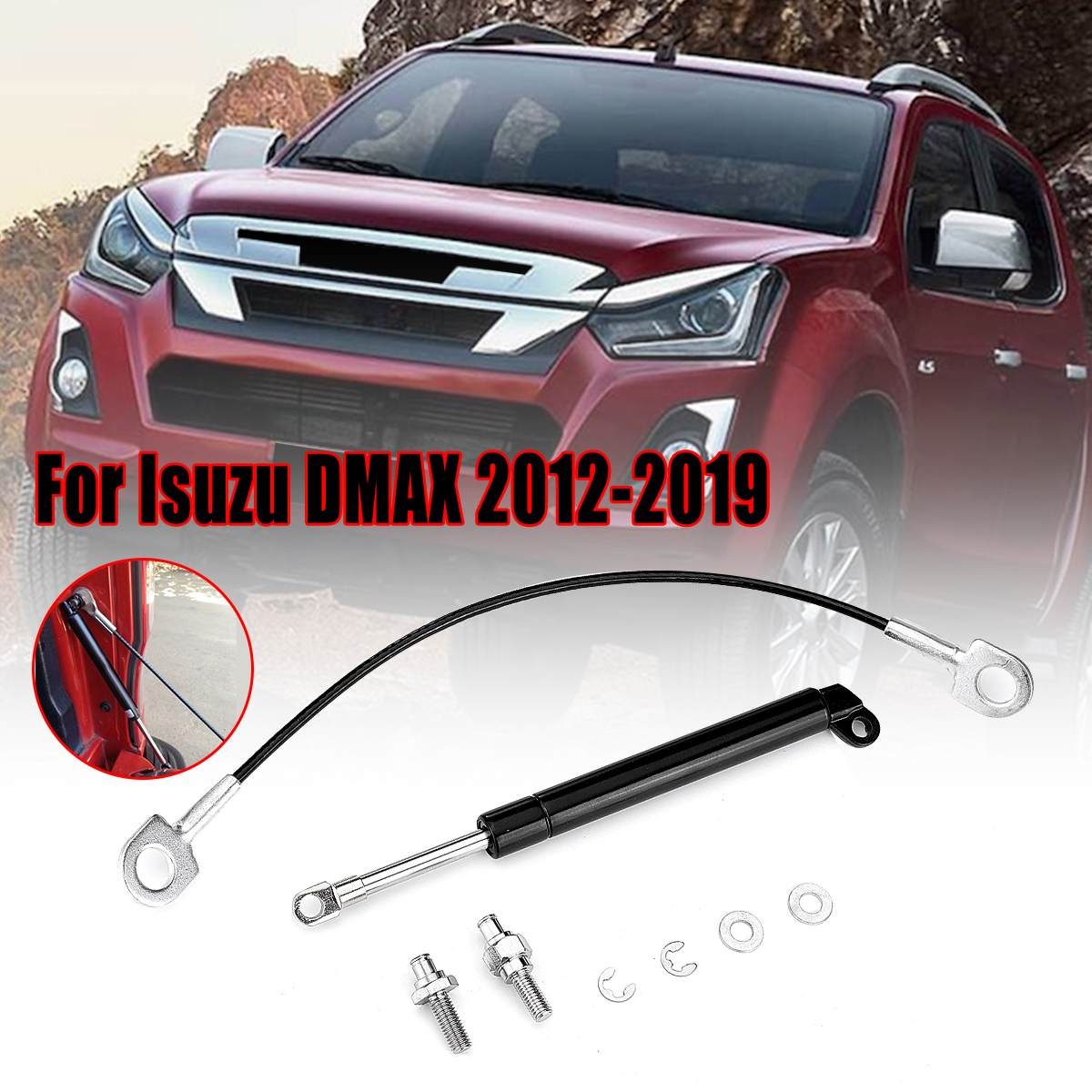 "EMBLEM Carbon+RED LOGO FRONT /""ISUZU/"" FOR ALL NEW ISUZU MU-X UTE SUV 2012-2014"