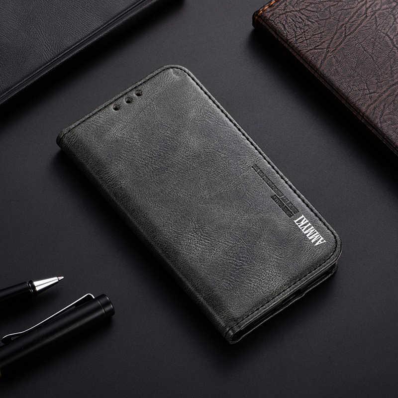 AMMYKI diseño perfecto mejor sensación Tailor preciso incorporado imán teléfono flip funda trasera de cuero 5,3 'para lenovo s920