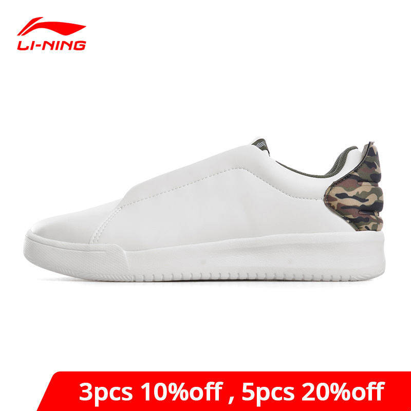 Li-Ning Men's Sports Life Lifestyle Shoes Breathable White Sneakers Fitness LiNing Li Ning Comfort Sport Shoes GLKN007 YXB175