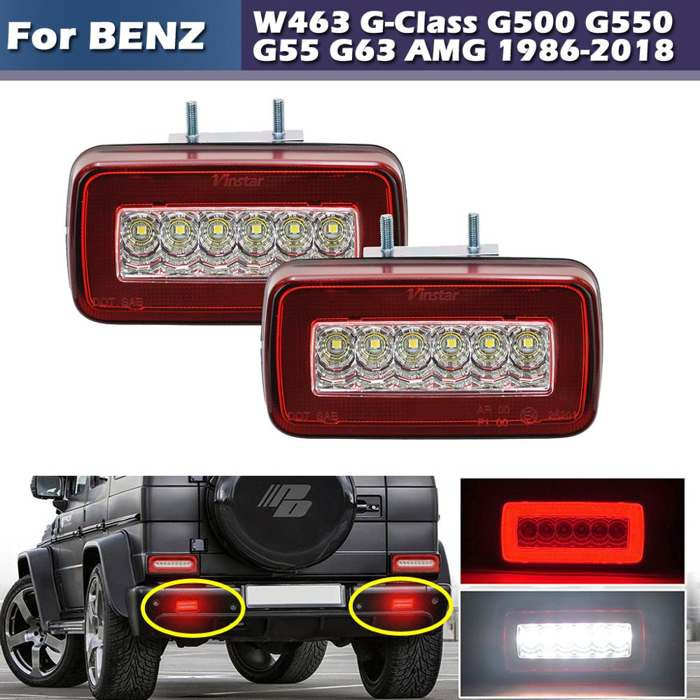 Red or Smoked Lens 3-In-1 LED Rear Fog Backup Light For Mercedes Benz W463 G-Class G500 G550 <font><b>G55</b></font> G63 <font><b>AMG</b></font> 1986-2018 image