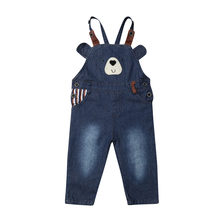 Maximum supplier 1PC Infant Kid Baby Boy Girl Beer Clothes Romepr Overalls Bib Pants Jean Outfit(China)