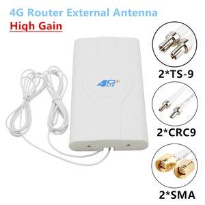 3g 4G LTE Omni панельная антенна для модема маршрутизатора 700 ~ 2600 МГц усилитель сигнала с высоким коэффициентом усиления антенны SMA CRC9 TS9 2 м кабель...