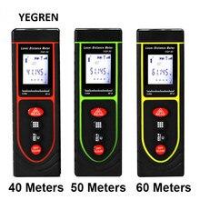 MINI télémètre Laser à infrarouge 40/50/60 mètres, avec règle numérique rétro-éclairé, mesure du Volume de la Distance intérieure