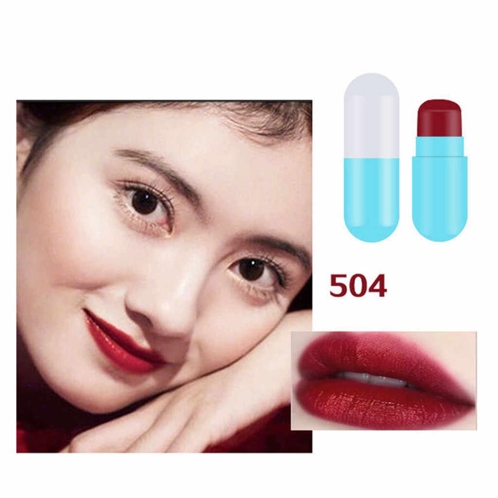 Capsule Kleine Lippenstift Set Waterdichte Hydraterende Matte Lipstick Kit Non-stick Cup Langdurige Sexy Lip Stick # E
