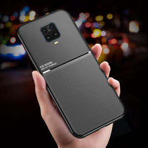 Shockproof-Case Back-Cover Note Xiaomi Redmi Slicone-Frame Matte for PU Soft 9-Pro