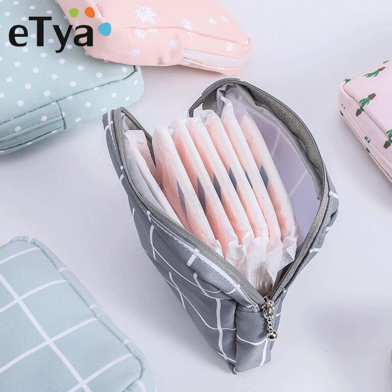 ETya Mini Women Cosmetic Bag Dot Travel Toiletry Storage Bag Beauty Makeup Bag Lipstick Cosmetic Bags Case Organizer Pouch