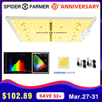SF 600W LED crece la luz de espectro completo Spider Farmer quantum board Samsung LM301b para plantas de interior semillas de flores vegetales tienda de cultivo