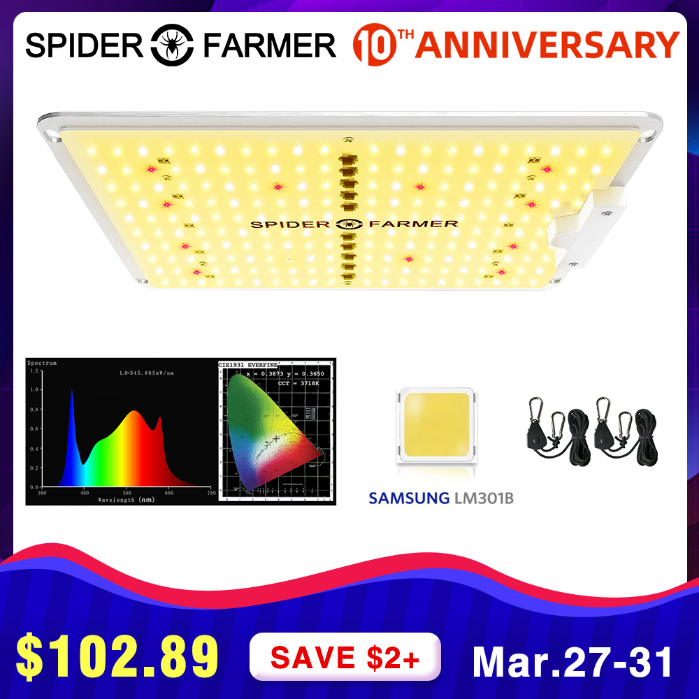 SF 600W LED Grow Light Full Spectrum Spider Farmer Quantum Board Samsung LM301b For Indoor Plants Seed VEG Flowers Grow Tent