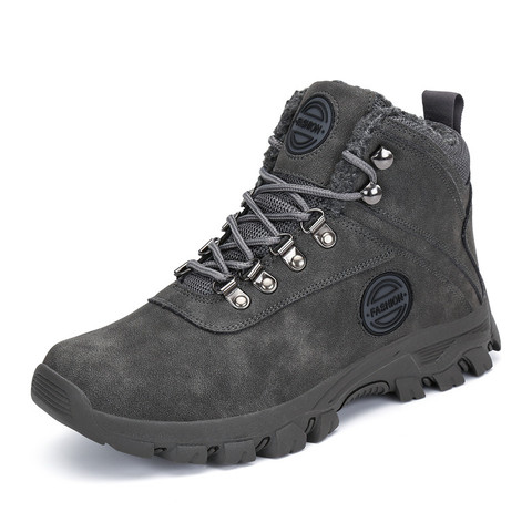Winter Fur Boots Men Shoes Safty Military Boots Outdoor Snow Boots Army Boots Ankle Warm Shoes Casual Flats zapatos de hombre Islamabad