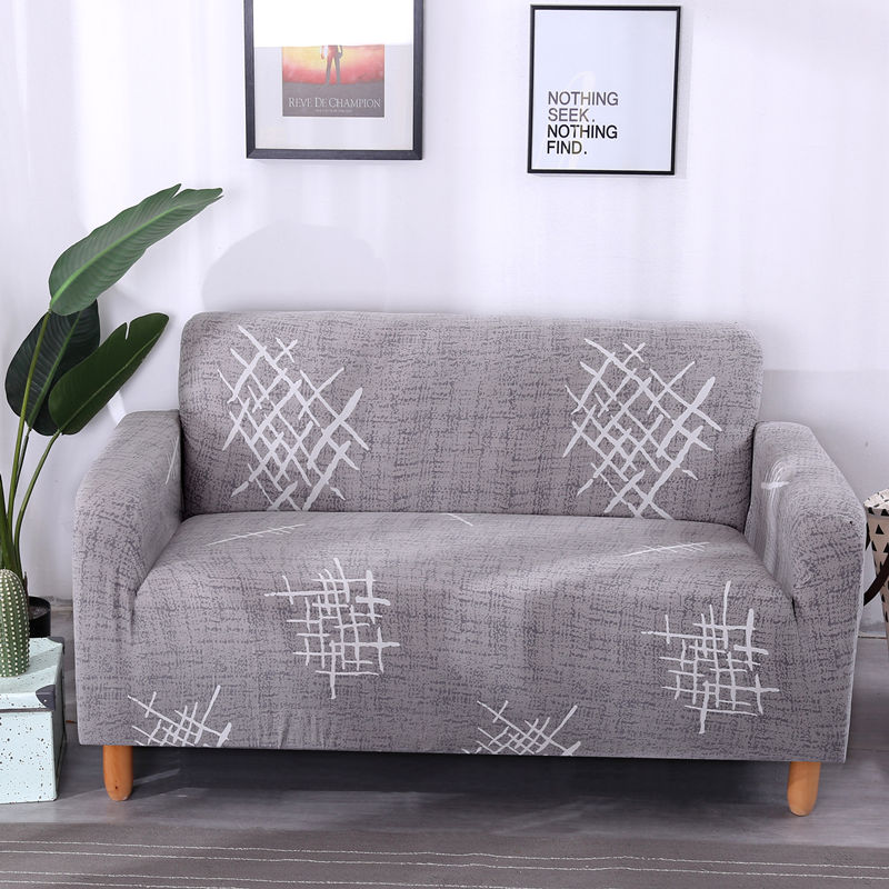 Wrinkle Free Couch Cover with Elastic and Straps for Sofa in Living Room Made of High Quality Spandex Material 17