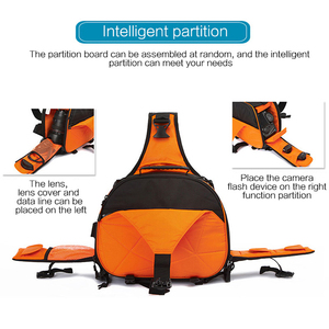 Image 3 - 사진 방수 삼각형 슬링 크로스 바디 남성 여성 소프트 패딩 카메라 어깨 가방 여행 캐주얼 삼각대 가방 디지털