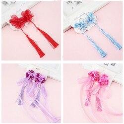 Accesorios para el cabello para niñas con diseño Floral y borlas de estilo chino
