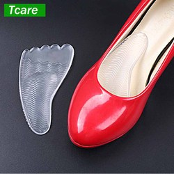 1Pair Invisible gel silicone forefoot pad insoles anti-slip orthopedic orthotic for high heels woman pump shoes flat sandals