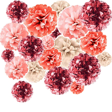 Free ship NEW 20 poms Rose Gold Pink grey brush DIY Party Garland Decoration Tissue Paper pom for All Events & Occasions