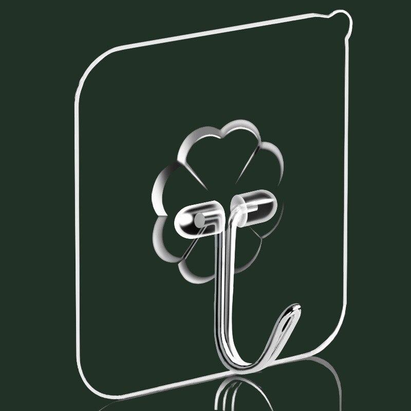 Прозрачный настенный Невидимый крючок на присоске без гвоздей клейкий крючок Бытовые аксессуары для кухни ванной комнаты