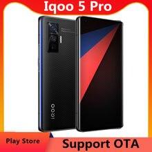 Dhl entrega rápida vivo iqoo 5 pro 5g telefone celular 6.56