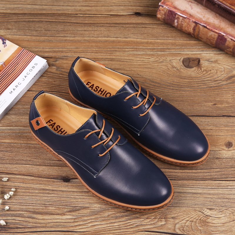 Mazefeng 2019 Men's Brand Leather Formal Shoes Lace Up dress shoes Oxfords Fashion Retro Shoes Business Footwear Drop Shipping