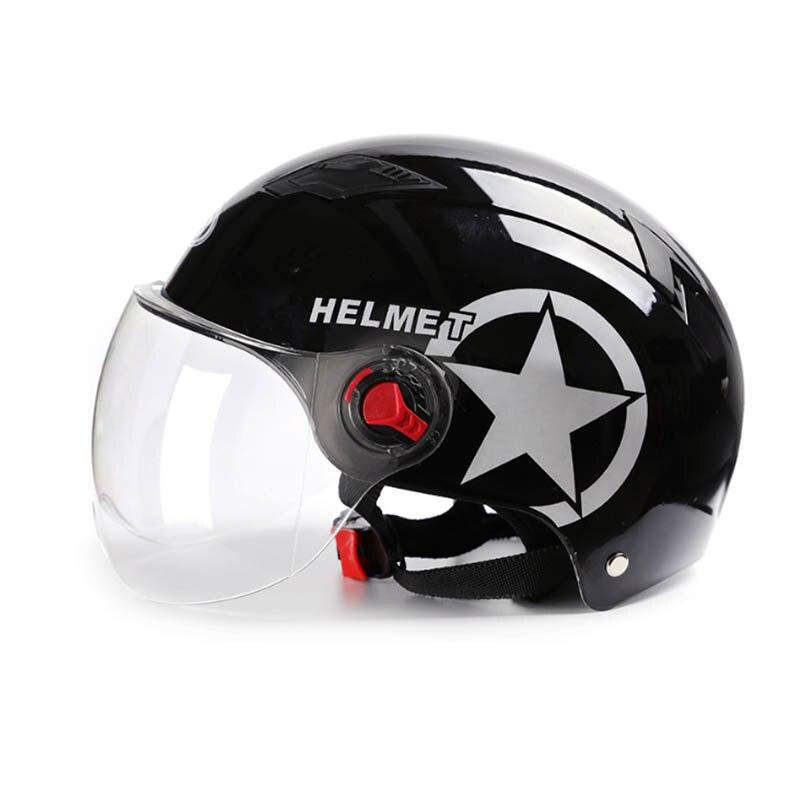Мотоциклетный шлем скутер велосипед Открытый лицо половина бейсбольная кепка анти-УФ безопасность жесткий шлем мотокросс шлем несколько ц...