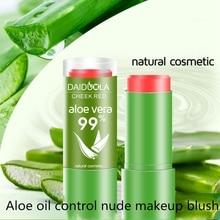 99% Aloe Vera Blush Stick Lasting Waterproof Oil Control Natural Cosmetic Facial Beauty Mak