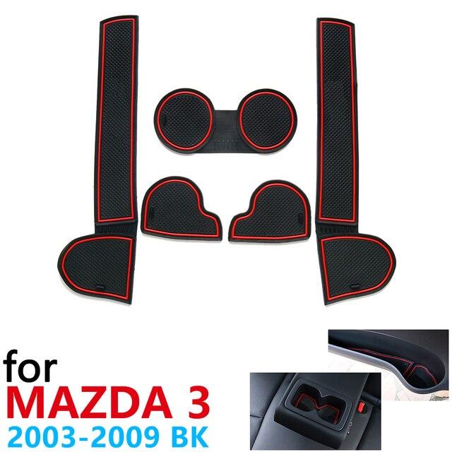 Anti Slip Coppa di Gomma Porta Cuscino Groove Zerbino per Mazda 3 BK MPS 2003 ~ 2009 2004 2006 2008 accessori Adesivi Per Auto Zerbino per il telefono