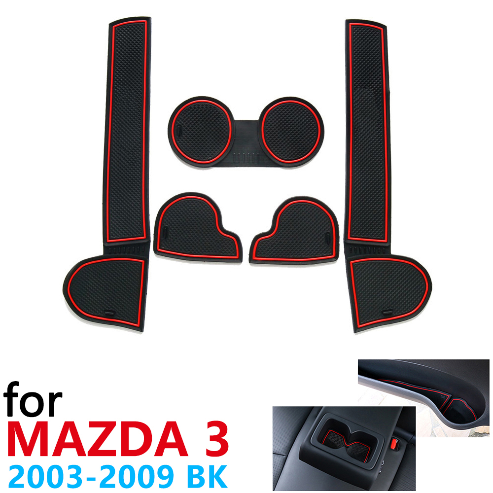 Anti-Slip Rubber Cup Cushion Door Groove Mat for <font><b>Mazda</b></font> 3 BK <font><b>MPS</b></font> 2003~2009 2004 2006 2008 Accessories Car Stickers mat for phone image