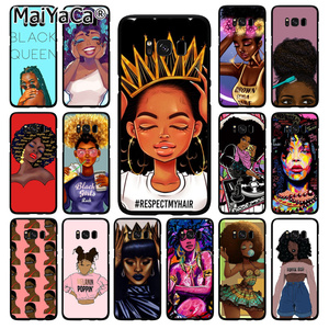 MaiYaCa 2bunz Melanin Poppin Aba Black Girl Phone Case for Samsung Galaxy S10 Plus S10E S6 S7 S8 S9 Plus S10lite M10(China)