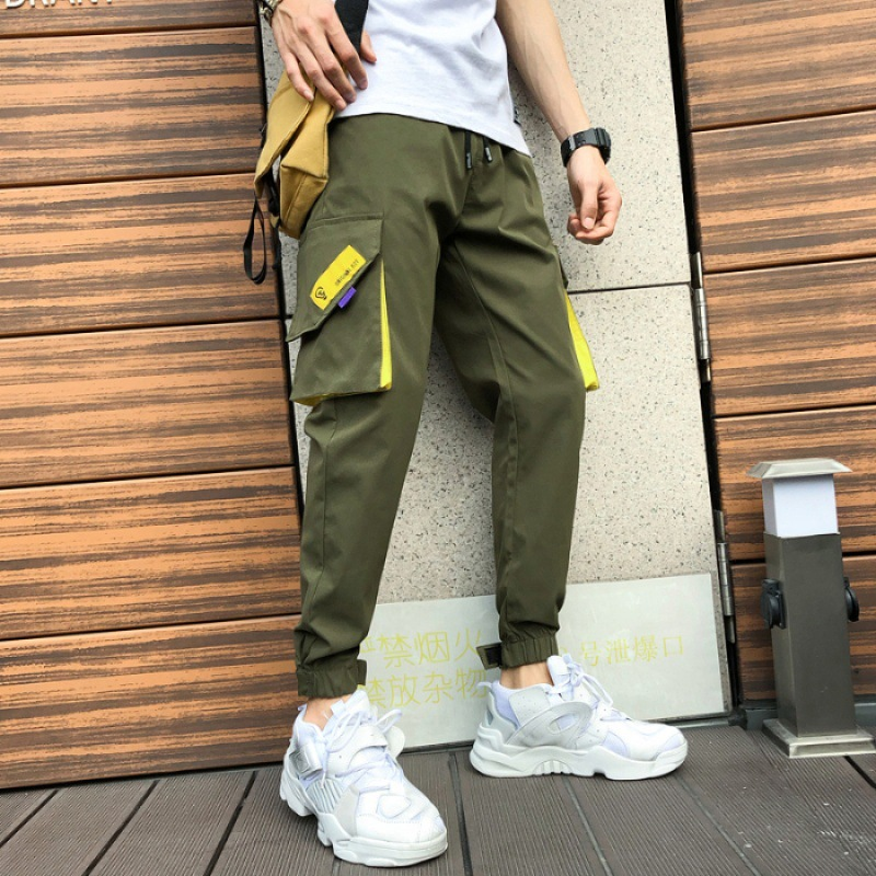 Spring New Style Pants Men's Capri Casual Pants Thin Loose-Fit Slim Fit Beam Leg Sports Harem Pants Versatile