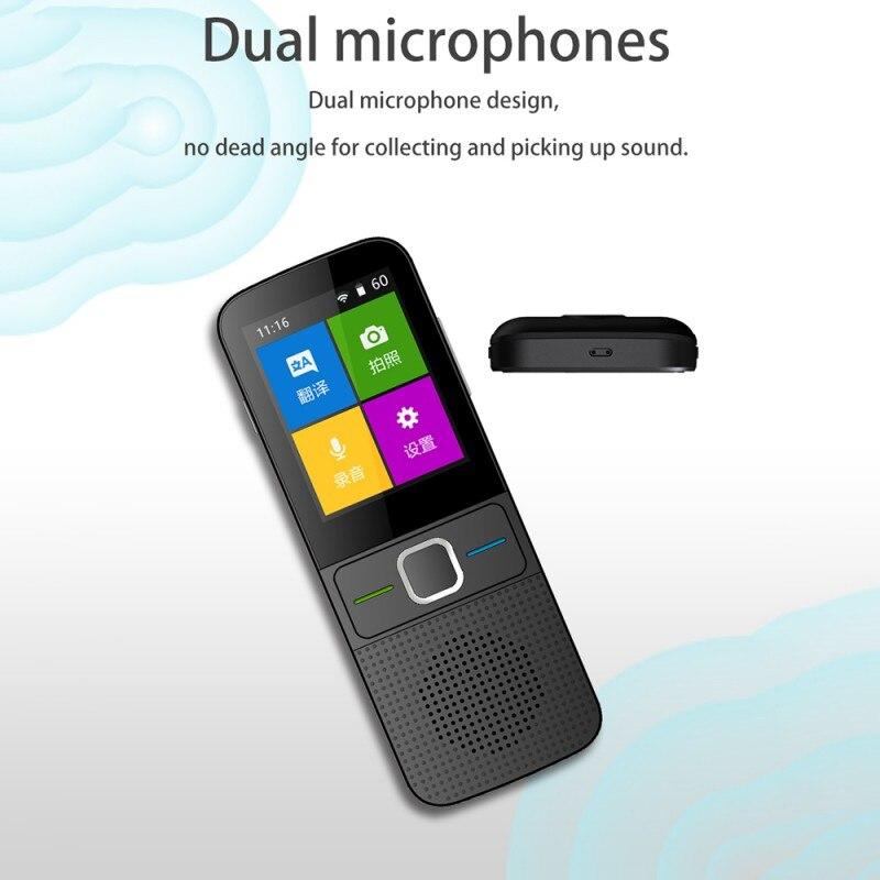 Traducteur Portable intelligent instantané WiFi 137 langues traducteur vocal bidirectionnel