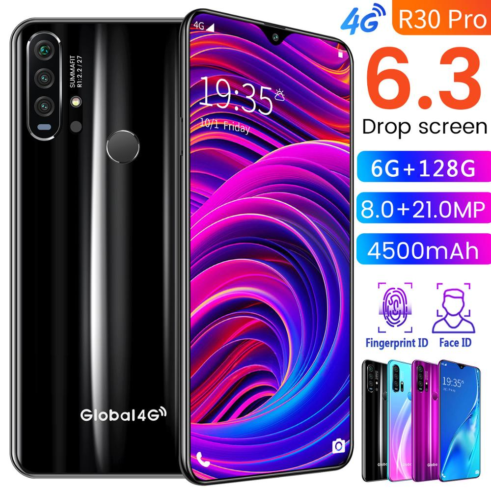 SAILF R30 pro Android 9.0 Octa Core Mobile Phone 6.3' FHD 21MP Triple Camera 6G RAM 128GB ROM Smartphone 4G gsm wcdma unlocked title=