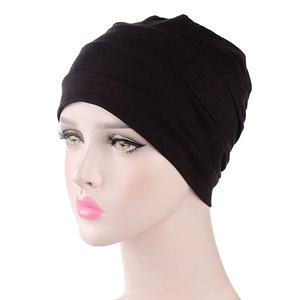 Image 2 - New WomenS Cotton Modal Cotton Head Cap Sleep Chemotherapy Cap Base Elastic Cloth Hair Accessories Muslim Headscarf