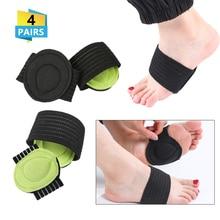 4 Pair Cushioned  Foot Support Decrease Plantar Fasciitis Pain Correction Night Care Corrector Thumb Goodnight