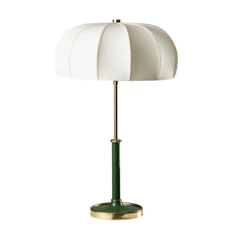 Lampe de table de style chinois abat-jour champignon lampe de table E27 lampe de table verte bonne qualité éclairage d'hôtel
