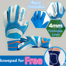 Big Sale Football Soccer Goalie Gloves Finger Protection GoalkeeperYouth Training Gloves Thickened Latex Goal football match(China)
