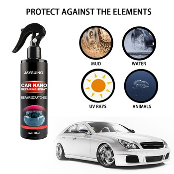 120ML Ceramic Car Coating Paint Care Car Nano Repairing Spray Oxidation Liquid Ceramic Coat Super Hydrophobic Glass Coating #G 30ml hardness 10h super hydrophobic car glass coating car liquid coat paint care durability anti corrosion coating set