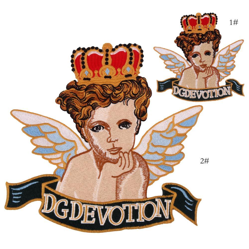 Adesivo bordado de anjo, aplique para costura ou bolsa, decoração ep032