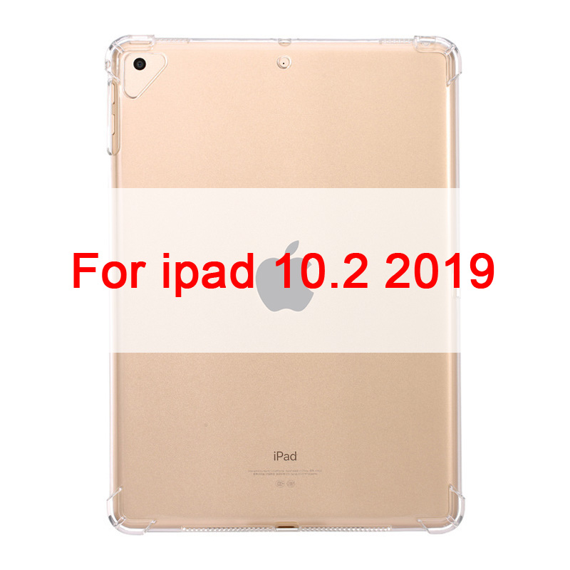 For ipad 10.2 inch Clear Case For iPad 10 2 2019 Clear Silicone With airbag Back Cover For iPad 7th Generation