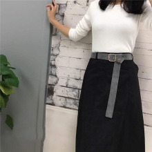 Women's Belt Black Female Decoration Skirt Wild Casual Dress Waistband Designer Belts PU Leather Strap Jeans Accessories