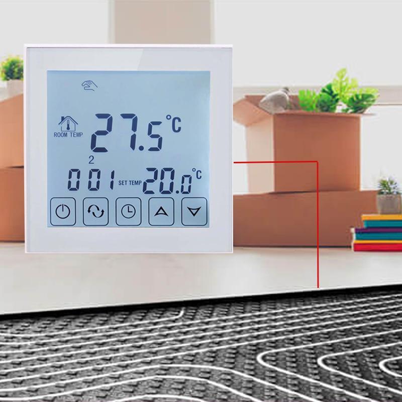 Aletler'ten Sıcaklık Cihazları'de TDS23 EP veya TDS21 EP dokunmatik ekran yerden isıtmalı termostat oda termostatı sıcaklık kontrolü elektrikli sıcak zemin title=